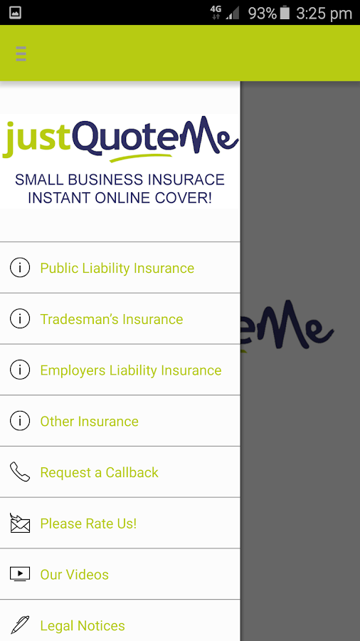 Just Quote Me Insurance Finder - screenshot