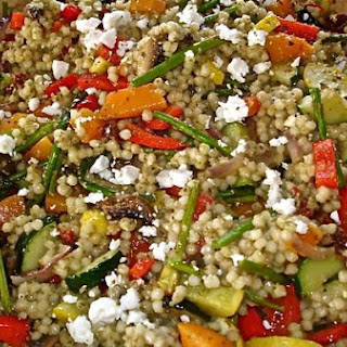 Couscous Salad With Roasted Vegetables.