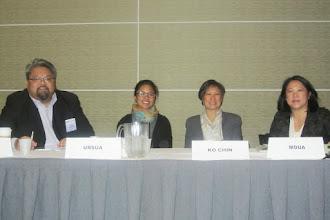 Photo: APIC Invited Session Panelists: Jeff Caballero, Rhodora Ursua, Kathy Ko Chin & Hon. Mee Moua