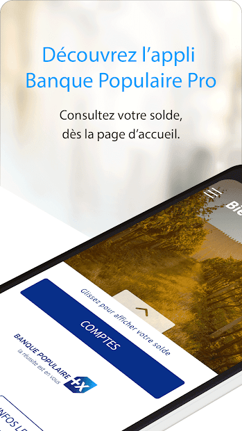 Banque Populaire PRO Android App Screenshot