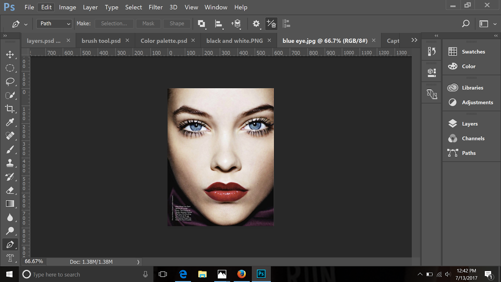 Photoshop tutorial how to add color to the key parts of a black and