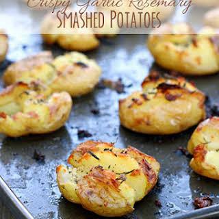 Crispy Garlic Rosemary Smashed Potatoes.