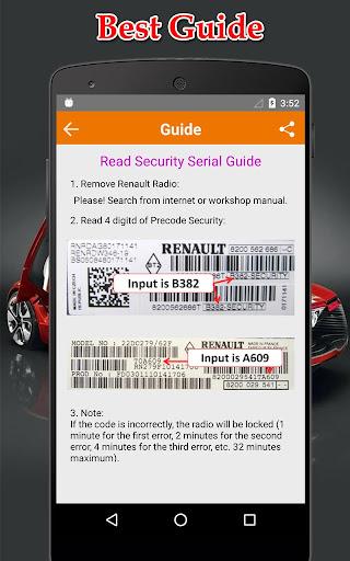 Radio Precode Cal For Renault  screenshots 2