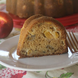 Nectarine Bundt Cake.