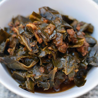 Collard Greens Stew with Chorizo & Garlic
