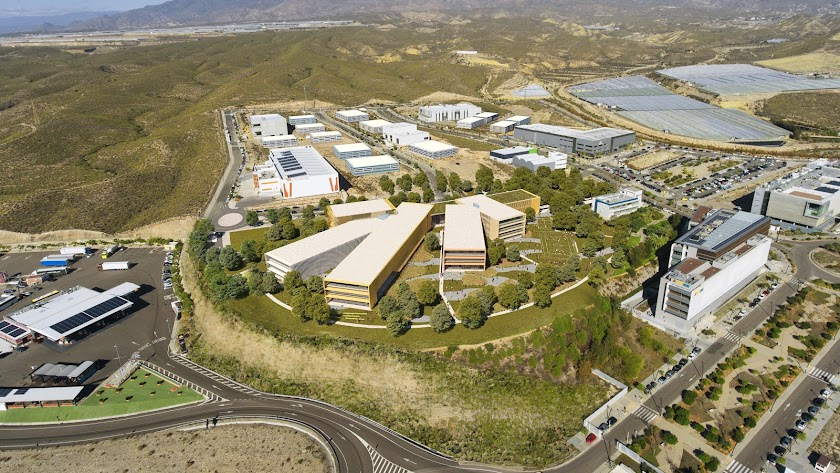 Vista aérea  virtual del futuro centro financiero de Cajamar.