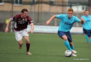 Photo: Stenhousemuir fc v Dunfermline fc, Scottish League 1, Ochilview , 24-08-13Sean Lynch and Ryan Thomson(c) David Wardle