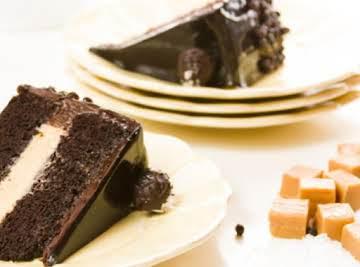 Chocolate Salted Caramel Layer Cake