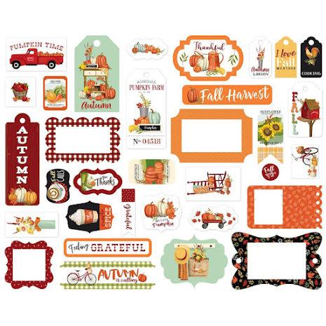 Carta Bella Welcome Autumn Cardstock Die-Cuts 33/Pkg - Frames & Tags