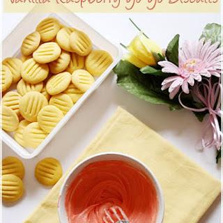 Vanilla Raspberry Yo Yo Biscuits.
