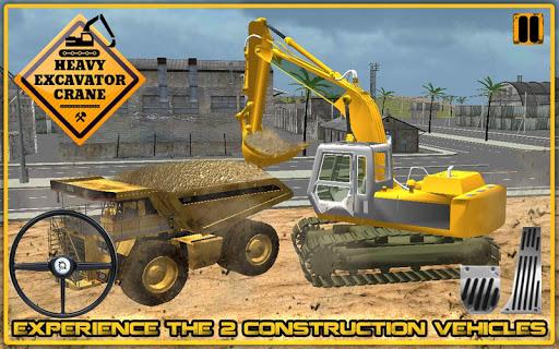 重型挖掘机起重机3D