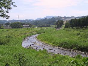 Photo: 寒所より田村川 大宮神社