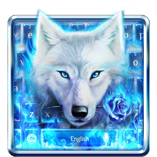 Blue Fire Wolf Typewriter Theme