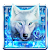 Blue Fire Wolf Keyboard Theme file APK for Gaming PC/PS3/PS4 Smart TV
