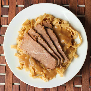 Beef with Ginger-Peanut Gravy.