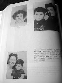 Photo: En haut à droite: Dora Bender, morte à Auschwitz le 5 aout 1944 En bas: ma tante Gita née Goldstein, avec Jean Bender mort à Auschwitz le 5 aout 1944