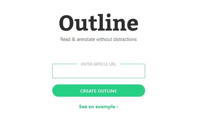 Outliner | A Chrome Extension for Outline.com