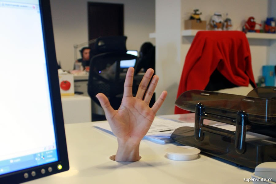Hand on my desk