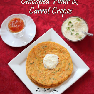Besan Carrot Dosa (Chickpea Flour Crepes).