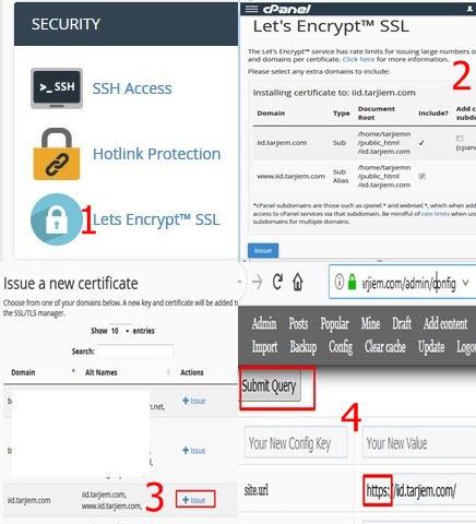 Pasang https Let's Encrypt SSL di HTMLy di iid.tarjiem.com