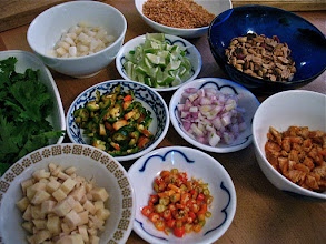 """Photo: ten filling ingredients for """"miang kam"""""""
