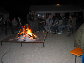 Photo: Das Lagerfeuer zum wärmen...