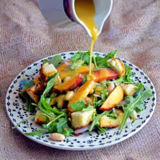 Peach Panzanella Salad.