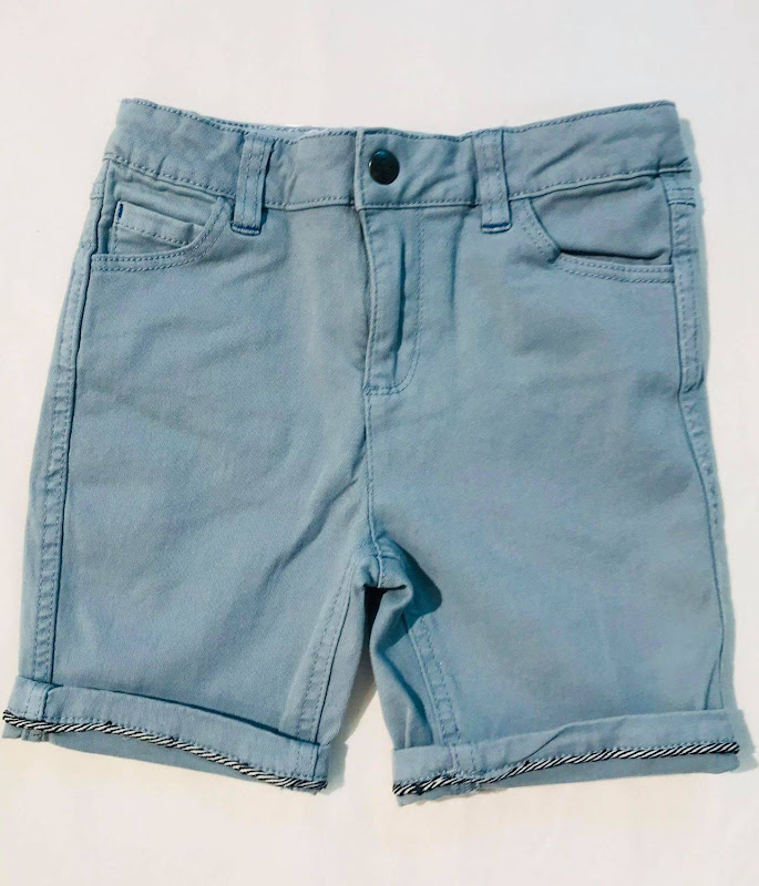 Short Light Blue - Met zijstreep