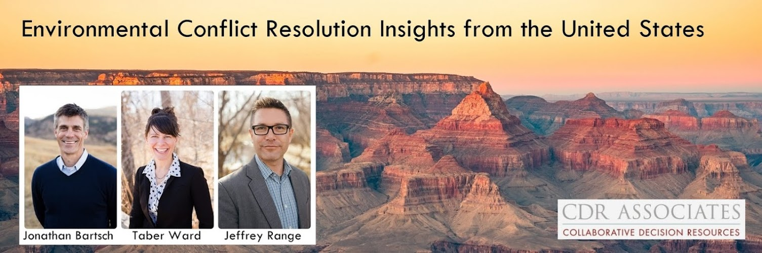 Environmental Conflict Resolution Insights from the USA