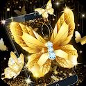 Gold Diamond Butterfly Theme icon