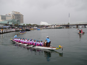 """Photo: Dragons Abreast Melbourne """"DAM Busters""""k at Sydney Darling harbour 25/10/09"""