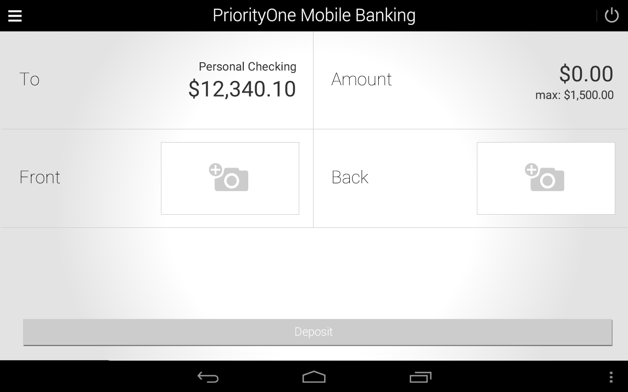 PriorityOne Mobile Banking- screenshot
