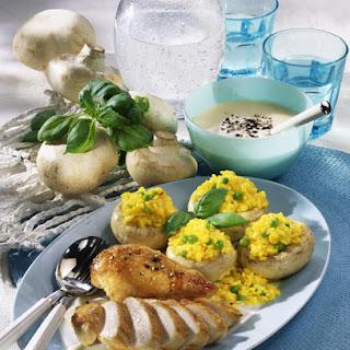 Chicken Breast with Stuffed Mushrooms.