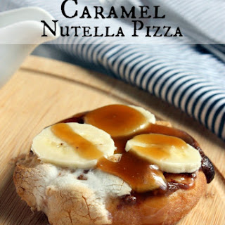 Toasted Marshmallow Caramel Nutella Pizza