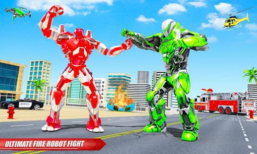 Fire Truck Real Robot Transformation: Robot Wars 4