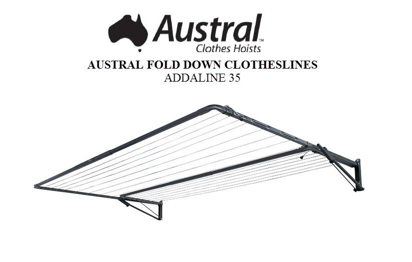 Austral Addaline 35 Foldown Clothesline Owners Manual ADDCC ADDWG