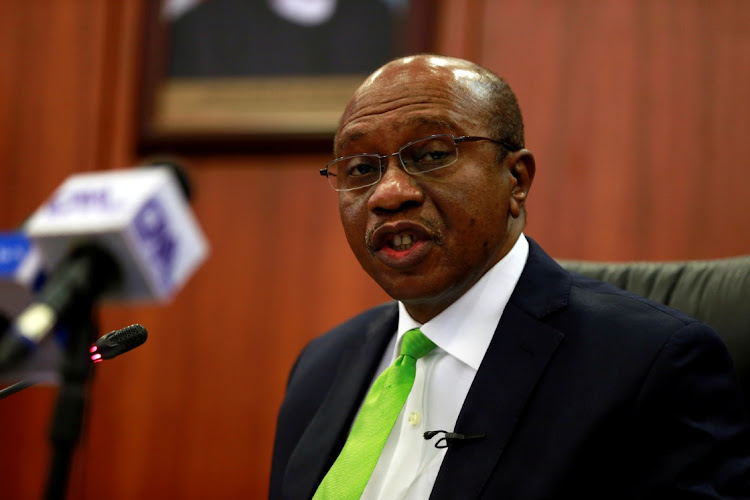 Nigeria's central bank governor Godwin Emefiele in Abuja, Nigeria. Picture: REUTERS/AFOLABI SOTUNDE