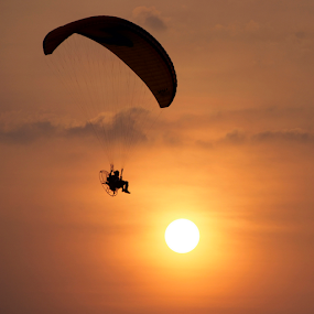 Tour with Parachuting by Marcelino Moningka - Sports & Fitness Other Sports ( flying, silhouette, sports, contest, tour, parachuting,  )