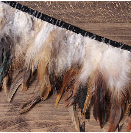 Fjäderband - tupp, 14cm, flerfärgad