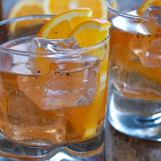 Sparkling Fig Vodka Old Fashioned.