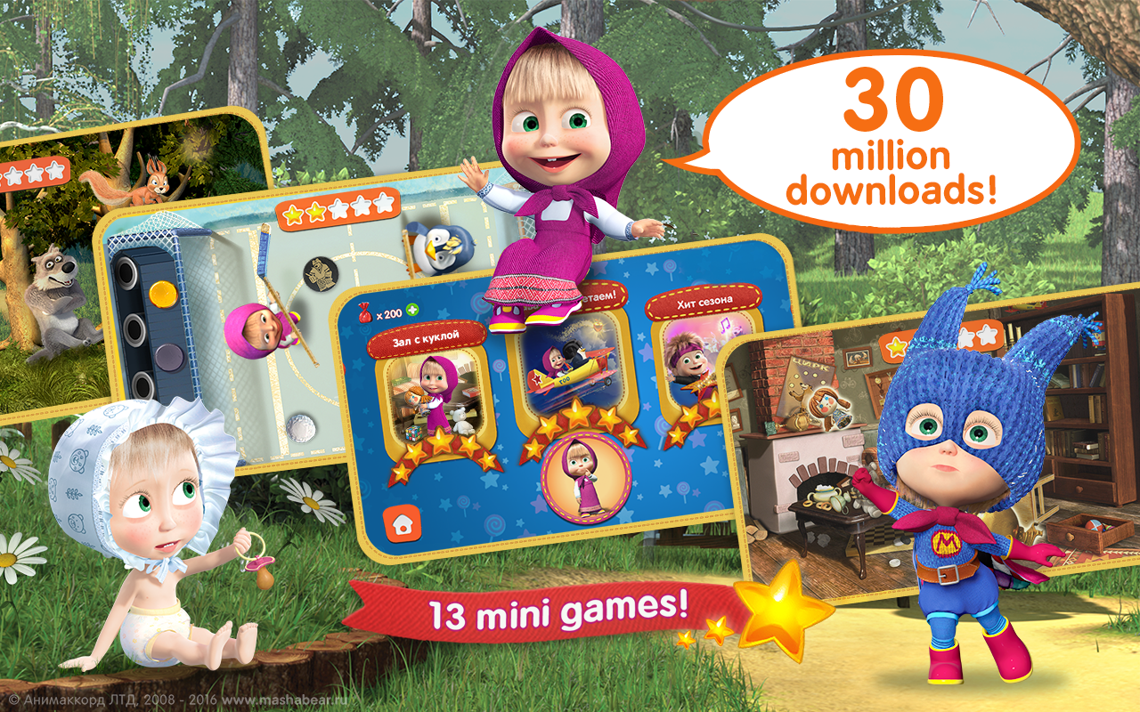 Masha And The Bear Child Games Android Apps On Google Play