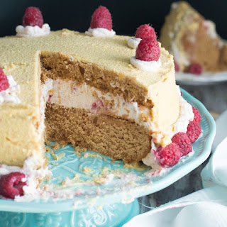 Layered & Creamy Raspberry Cake