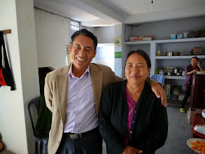 Photo: Brother Ngulie Rentta and his wife. He was the local native coordinator for this Missions conference at Tening town. He serves as the missions department secretary of the Liangmai Baptist association of Nagaland.
