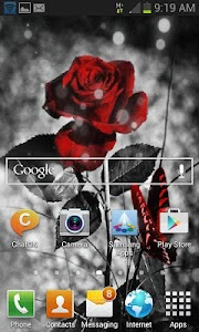 Red Black Butterfly LWP screenshot 1
