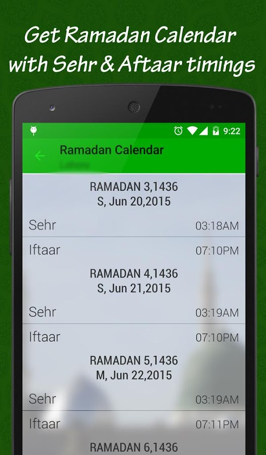 Ramadan 2017:Timing & Calendar- screenshot