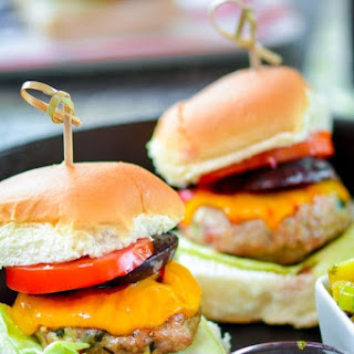 Jerk Chicken Sliders with Grilled Pineapple Relish.