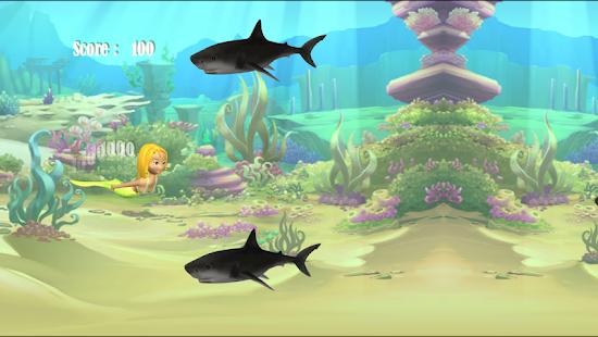 útoku žraloka mořskou pannu - náhled