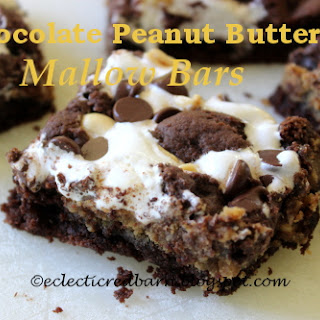 Chocolate Peanut Butter Mallow Bars
