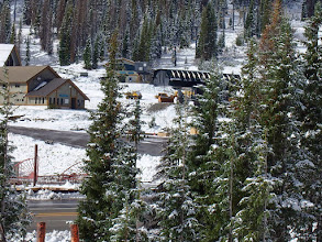 Photo: Base Area enjoys 4 inches of new snow on 9.29.14.