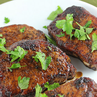 Balsamic Glazed Pork Chops.